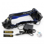 1600Lm CREE XML T6 LED Zoom Zoomable Adjustable 18650 HeadLamp Headlight 3 Modes